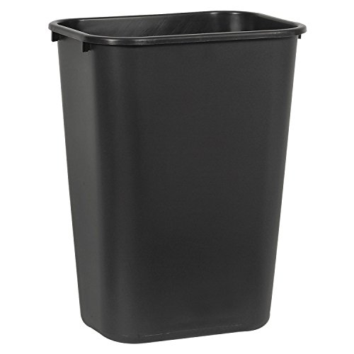 Boardwalk 41QTWBBLA Soft-Sided Wastebasket, 41 qt, Plastic, -