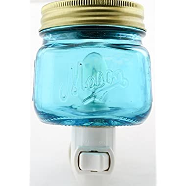 Mason Jar Plug In Fragrance Wax Warmer Blue by Tuscany Candle
