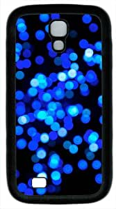 Samsung Galaxy S4 Case Cover - Glowing Blue Bubbles TPU Samsung Galaxy S4 / SIV/ I9500 Case Cover - White