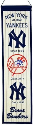 """New York Yankees Winning Streak Past Mascots Wool Heritage Banner (8"""""""