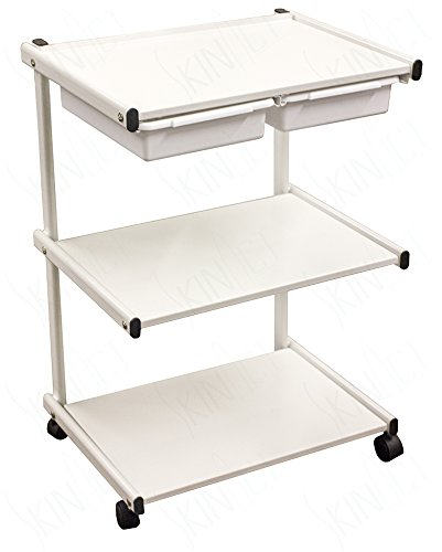 Metal Trolley - Jumbo Size Metal Cart, Trolley with Two Plastic Drawers