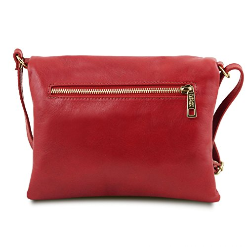 bag with detail bag TL tassel Young Red Leather Red Shoulder Tuscany qWZCXcRwc
