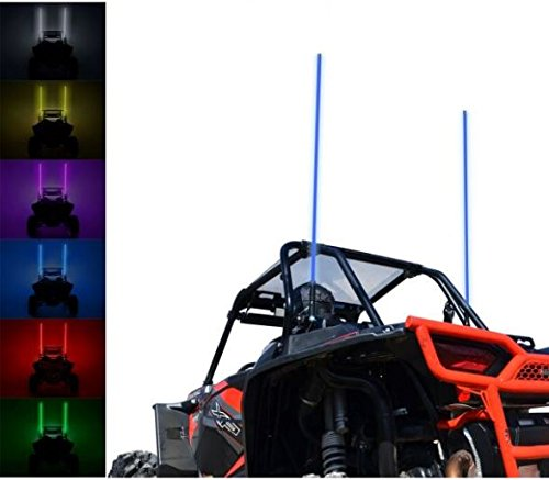 SuperATV 5' LED Whip Light - fits Polaris RZR 800, 900, 1000, Turbo, Ranger, General; Can-Am Maverick X3, Commander, Kawasaki Teryx, Honda Pioneer and more! -  SuperATV.com, LGT00-003-3