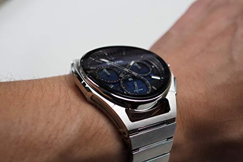 Bulova herr kronograf kvartsklocka med rostfritt stål 96A205
