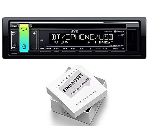 JVC KD-R891BT 1DIN Radio Bluetooth Spotify mit Einbauset fü r Suzuki Splash (EXB22/EXB32) 2008-2014 EHO KDR891+RB1EHO551
