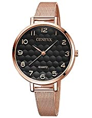 Women's Wrist Watch Quartz New Design Casual Watch Cool Alloy Band Analog Casual Fashion Black/Rose Gold - Black Black/Gold Black/Rose Gold