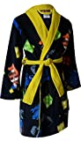 Lego Movie Boys Black Fleece Bathrobe Robe