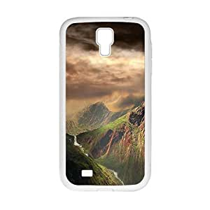 Personalized Clear Phone Case For Samsung Galaxy S4,grand mountains and dark sky