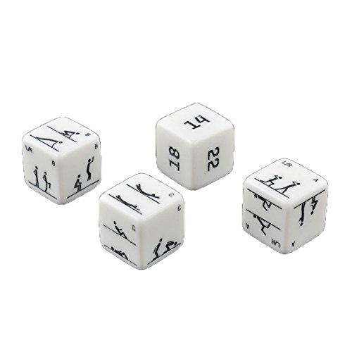 Set of 4 Carved Fitness Dice - Bodyweight Fitness Fun Office &...