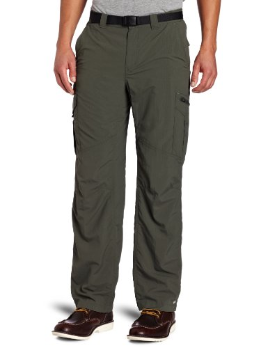 Columbia Men's Silver Ridge Cargo Pant, Gravel, 44x34-Inch