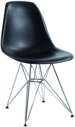 EUROSILLA ST003 Chaise pour Salle à Manger Noir 81x47x56cm