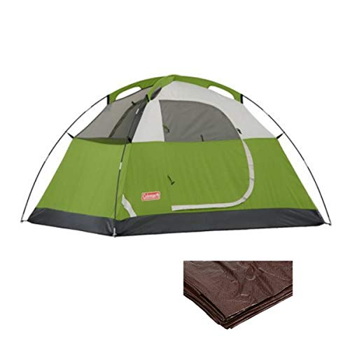 Coleman Dome Tent for Camping   Sundome Tent with Easy Setup (Green w/ 1 Trap, 2 Person)