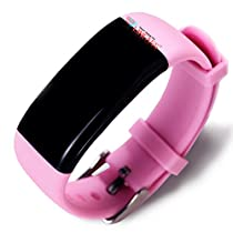 Lincass Waterproof Smart Bracelet Fitness Tracker Heart Rate Monitor Wristband Pedometer Step Walking Distance Calorie Counter Smart Watch Fitness Tracker for iOS Android Smartphone (Pink)
