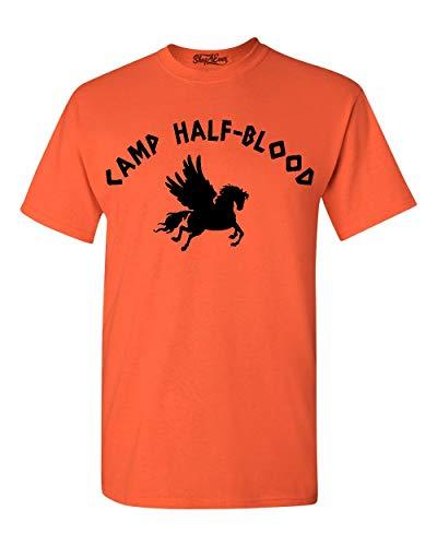 - Shop4Ever Camp Half Blood T-Shirt X-Large Orange 0