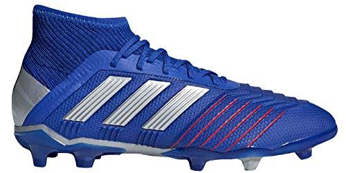 adidas Kids Predator 19.1 Firm Ground Soccer Cleats (5.5), Bold Blue / Silver Met / Football Blue