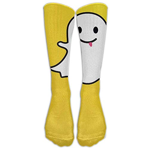 Sport Breathable Crew Knee Socks Snapchat Ghost Calf Unisex Perfect Gift Novelty Athletic Stocking Sock One Size