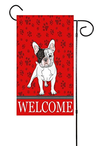 "Unique Textile Printing French Bulldog - Frenchie Dog Lover Garden Flag 12""x18"""