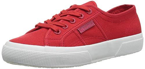 Superga Women 2750 Cotu Sneaker Red Full White