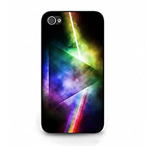 Pink Floyd Phone Case Cover For iPhone 4/iPhone 4S Rainbow Black Back