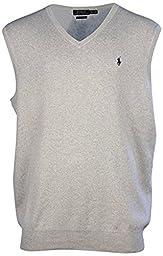 Polo Ralph Lauren Mens Pima Cotton Vest, (L, Stone Gray)