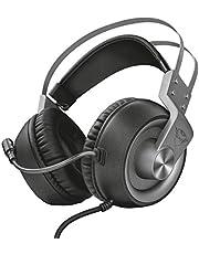 Risparmia su Trust GXT 4374 Ruptor Confortevoli Cuffie Gaming Over-Ear con Unità Altoparlante da 50 mm, Grigio e molto altro