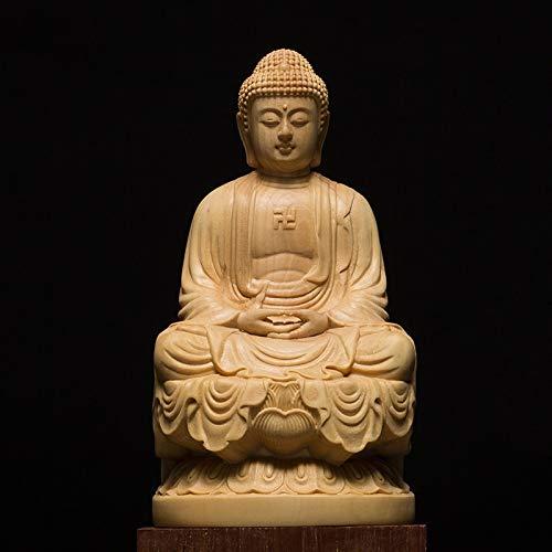 (Viet JK Tathagata,Gautama - Wood Bouddha Statue Wooden Carving Buddha Statue Buda Estatua Shakyamuni Craft Bodhisattva Sculpture Statues for Home Decor 1 Pcs)