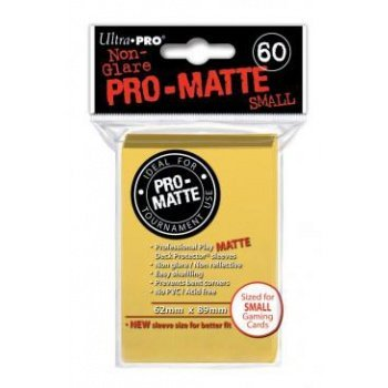 Ultra Pro Deck Predector  60 ProMatte Yellow Small Size Sleeves  Japanese Size
