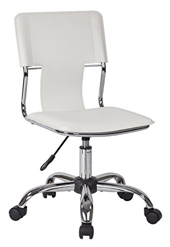 Ave Six Carina Task Chair, White Vinyl ()