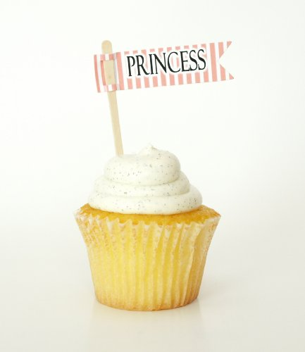 """""""Princess"""" Party Cupcake Toppers, Pink (Set of 12) - Little Girl Birthday Parties, Pink Party Decorations"""