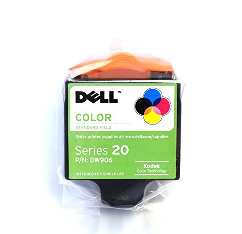 New Genuine OEM DW906 Dell Series 20 Standard Capacity P703w Personal All-in-One Printer Tri-Color High Resolution Replacement Inkjet Color Cartridge 330-2116 N570F Y859H 330-2396