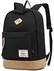 Augur Adults Casual Laptop Backpack Lightweight Classic Book Bag Water Resistant Rucksack for Travel, Large,...