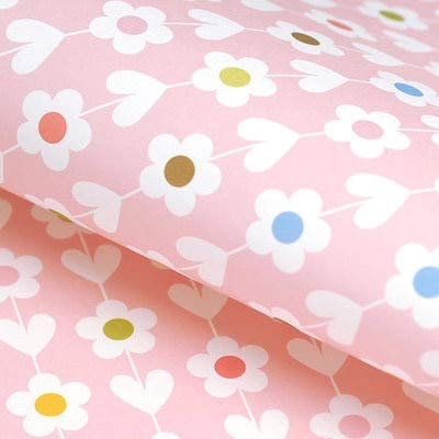 Gift Wrapping Paper - 10 Sheet 52X75cm Flower Wrapping Packing Paper Roll Floral Patterned Gift Packaging Background Craft DIY Scrapbooking Decorative -