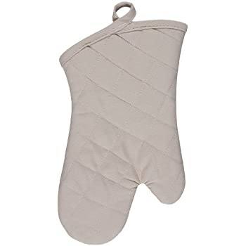 KAF Home Chefs Solid Oven Mitt, Oatmeal, 100% Cotton, Machine Washable, Made in USA