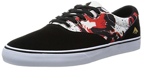 ZAPATOS EMERICA THE SLIM VULC X MOUSE BLACK PRINT