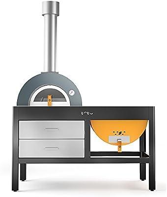 TOTO Cocina de Exterior con Horno y Grill a leña Grill Oven ...