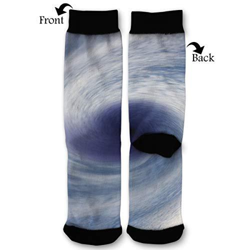 Leisue Tornado and Hurricane Damage Repair for Houston High Ankle Sock, Soft Cotton Breathable Polyester Crew Socks for Women - Tornado Royal Socks