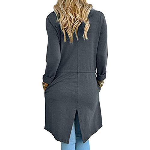 Lache Femmes Chic Couleur Unie Cardigans qTE5xPwnS