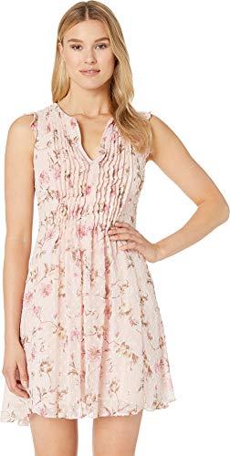 Duchess Dress - CeCe Women's Flutter Sleeve Duchess Floral Clip Dot Dress Secret Blush 4