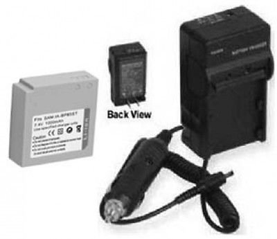 Battery + Charger for Samsung SC-MX20L, Samsung SC-MX20R
