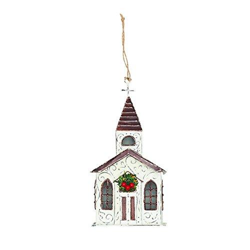 GALLERIE II Pressed Tin LED Church Christmas Xmas Ornament