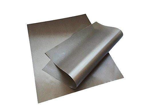 Permanent Backpapier, Dauerbackfolie 2er Set 40 x 50 cm - wiederverwendbar, antihaftbeschichtet, permanent, spülmaschinenfest, zuschneidbar - Backmatte, Backfolie