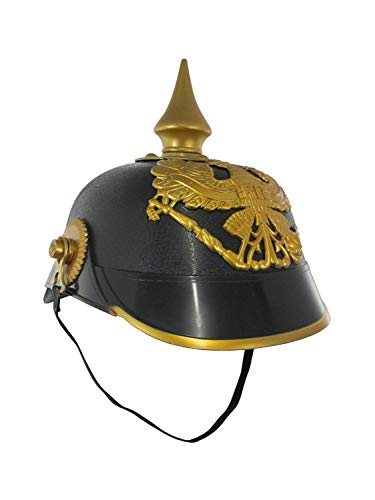 Nicky Bigs Novelties German Plastic Pickelhaube Spiked Officer Helmet Costume, One Size
