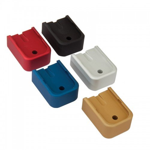 Plate Base Aluminum (Heavy Extended Aluminum Magazine Base Plate Blue Pink Red Black Silver Black (Silver, 9mm/.40 cal/.357))