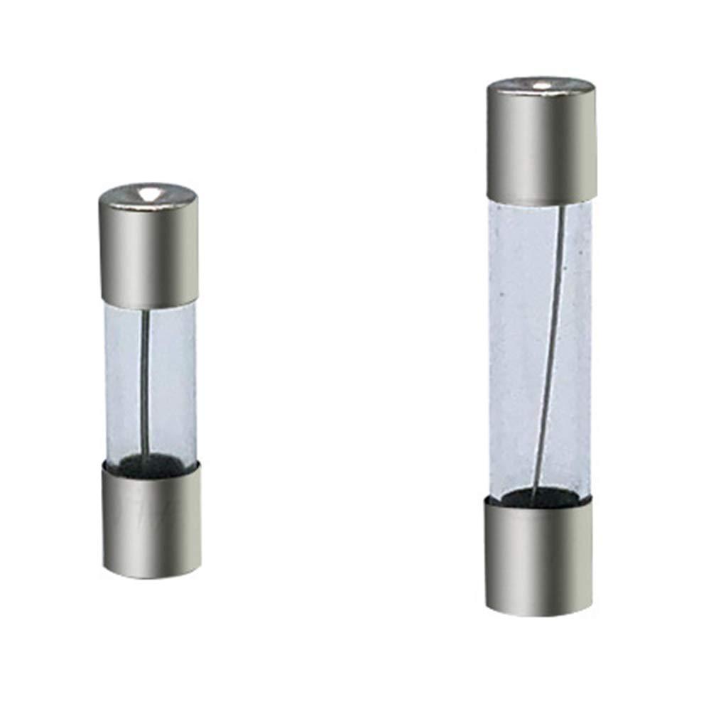 72 St/ück 6 x 30 mm Glassicherungen Sortimentskit 0,5 1 2 3 5 10 15 20 30 A Safe Holder Tube Multi Current Auto Zubeh/ör