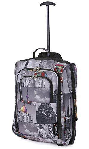 82bedcf963f 5 Cities Hand Luggage Lightweight Travel Holdall 55 cm 42 Litres:  Amazon.co.uk: Luggage
