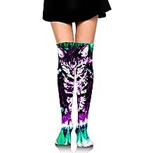 Seahorse And Seashell Big Girls/Women Cute 3D Pattern Over Knee High Socks Stockings
