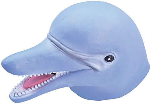 Rubber Dolphin Overhead Mask (Cute Animal Costumes For Men)