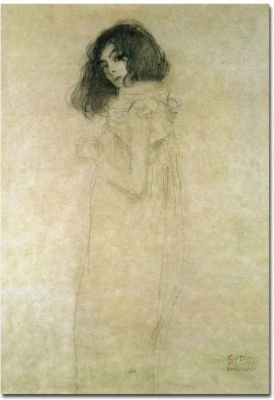 Trademark Fine Art Portrait of a Young Woman, 1896-97 by Gustav Klimt Canvas Wall Art - Artist: gustav klimt Style: figurative Product type: gallery-wrapped canvas art - wall-art, living-room-decor, living-room - 41aDyzq%2BSkL -