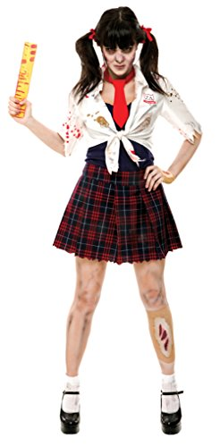 papermagic womens zombie zone charm school girl theme party halloween costume medium 8 - Halloween Costumes Of Zombies
