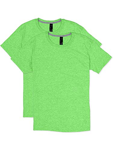 Hanes Men's 2 Pack X-Temp Performance T-Shirt, Neon Lime Heather, X-Large